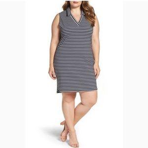 Leota for Gwynnie Bee Striped Ponte Shirt Dress